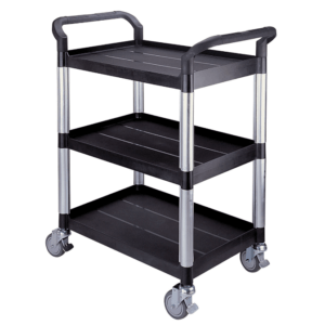 Three shelf utility trolley
