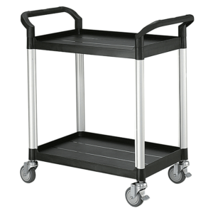 Two shelf utility trolley