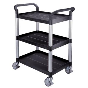 Three shelf utility trolley