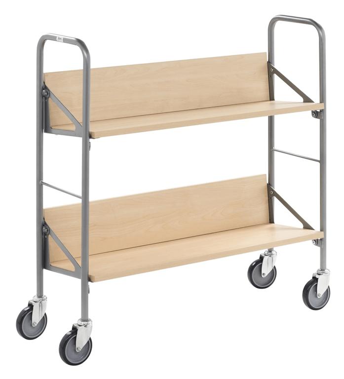 Steplift 2 shelf archive trolley