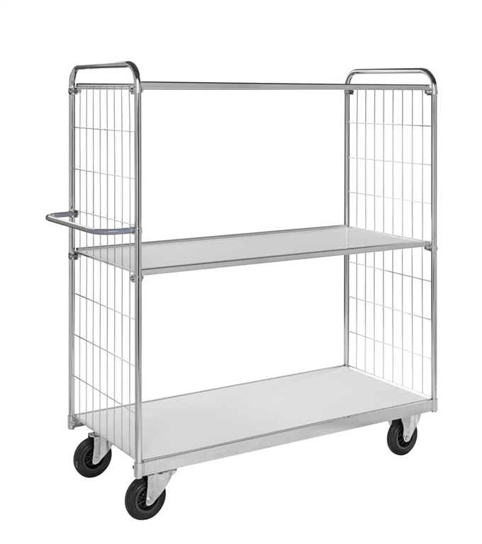KM9000 3 shelf Steplift trolley